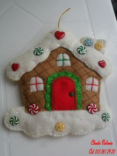 Looking for a Christmas decoration to be proud of and hang up year after year? Bucilla has some of the… Felt Christmas Ornaments, Christmas Crafts, Christmas Decorations, Xmas, Christmas Tree, Holiday Decor, Christmas Gingerbread, Felt Crafts, Felt Diy