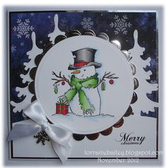 Mrs B's Blog: Mr Snowman