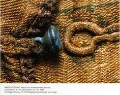 Kaftan button detail, Central Asia, 9-10th century.