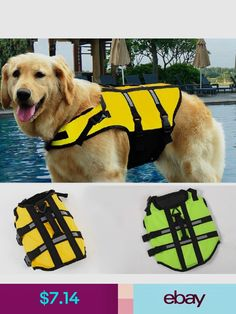 Dog Clothing & Shoes Pet Swimsuit D Ring For Leash Widen Handle Dogs Reflective Life Jacket Orange Green Clothes For Dog Convenient To Cook