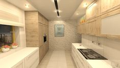 Projekt kuchni z drzwiami płycinowymi. Kitchen design with panel doors. Alcove, Teak, Bathtub, Bathroom, Standing Bath, Washroom, Bathtubs, Bath Tube, Full Bath