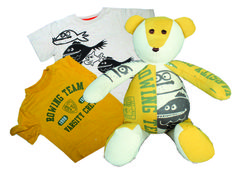 T-Shirt Memory Bear made entirely from two of your favorite t-shirts:)