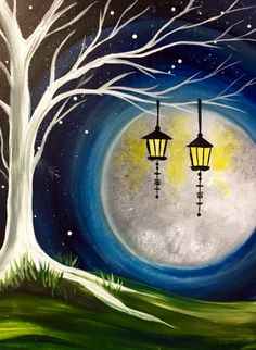 Paint Nite Events near New Brunswick NJ 08901 United States Simple Canvas Paintings, Oil Pastel Paintings, Oil Pastel Art, Small Canvas Art, Indian Art Paintings, Diy Canvas Art, Acrylic Painting Canvas, Moon Painting, Cocktail Movie