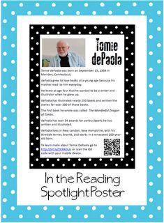 Classroom Freebies: Author Study Poster Freebie