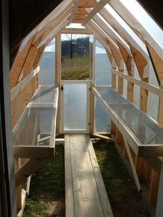 DIY greenhouse, website has very detailed how-to instructions... much better than starting seeds inside our house like we did this year!
