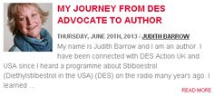 My Journey from DES Advocate to Author, by @judithabarrow on @LucineWoman Hormones Matter Blog