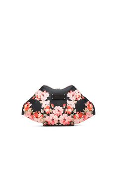 Image 3 of Alexander McQueen De Manta Clutch in Black & Pink