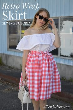 Modern Mid-century Sewing and Style with Allie Jackson. Skirt Patterns Sewing, Vintage Sewing Patterns, Coat Patterns, Dress Sewing, Blouse Patterns, Wrap Skirt Tutorial, Zipper Tutorial, Tutorial Crochet, 50s Style Skirts