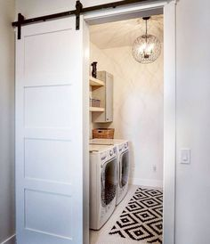 Who says that having a small laundry room is a bad thing? These smart small laundry room design ideas will prove them wrong. Laundry Room Remodel, Laundry Room Bathroom, Farmhouse Laundry Room, Small Laundry Rooms, Laundry Room Design, Basement Laundry, Laundry Decor, Small Bathroom, Basement Flooring