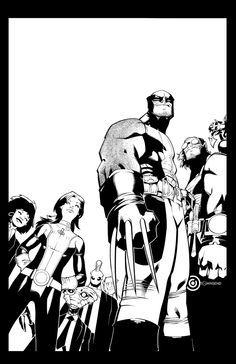 The is the cover to the first issue of the new Wolverine and the X-Men series by Chris Bachalo and myself. Wolverine and the X-Men cover Comic Book Pages, Comic Book Covers, Comic Books Art, Dc Comics, Batman Comics, Marvel Comic Character, Comic Book Characters, Comic Artist, Artist Art