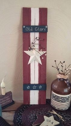 Americana Shutter made from Tobacco Sticks. How to make this Americana shutter plus a few other tobacco stick decor inspirations.