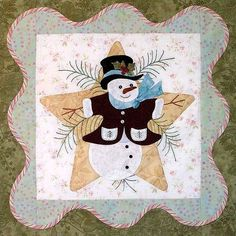 Quilt Pattern Anita's Christmas Quilt Block 1 by PrimitiveQuilting, $6.00