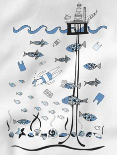 Under The Sea - White - Women's Organic Cotton T-shirt. £25