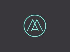 logo am 20 Amazing Monogram Designs Logo Typo, Mm Logo, Logo Branding, Monogram Design, Monogram Logo, Logo Minimalista, Typography Design, Lettering, Architecture Logo