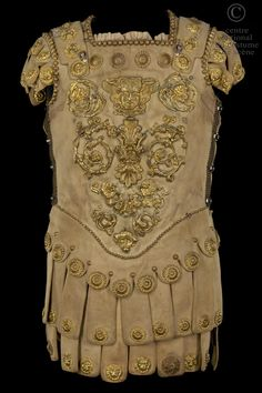 CNCS (great site for costumes!):Cuirass from a production of Caligula in 1837.  Roman technically, but hey, the Romans admired the Greeks for their culture.