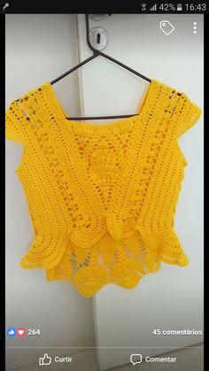 Crochet Yoke, Crochet Crop Top, Summer Cardigan, Crochet Baby Clothes, Beautiful Blouses, Crochet Fashion, Cactus, Crop Tops, Knitting