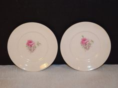 Rose Butter Pat Plates Vintage Shabby Rose by ShellysSelectSalvage
