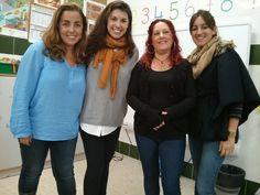 EL BLOG DE NURYA: Nuria Ruiz cuenta cuentos en el Colegio Los Pinos
