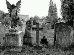 Cemetery, Angel Statue