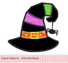 Halloween Witch Hat 4x4 5x7 Machine by CherryStitchDesign on Etsy, $2.99