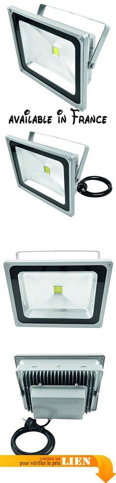 Eurolite 060468 FL-50 Cob LED IP 3000K 120° Blanc. 2 températures de couleur des LED blanches disponibles: 6400K ou 3000K. angle de réflexion du faisceau de 120 °. Pret pour la connexion via le cordon d'alimentation avec fiche de sécurité. la lumiere ouput intensité: 550 Lm. Dimensions (L xlx H): 115 x 130 x 80 mm #Musical Instruments #SOUND_AND_RECORDING_EQUIPMENT