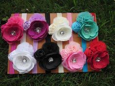 Triple Vintage Flower Headband by LadybugBowShack on Etsy, $8.00