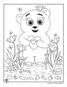 Teddy Bear Hidden Picture Printable Den Svatého Valentina, Vyrábění Pro Děti, Blahopřání K Narození Dítěte, Skeče, Malba Pastelkami, Perception, Školka