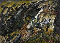 Chaim Soutine, Le Mas Passe-Temps, Céret, 1921, Oil