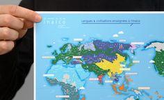 Worl map. Votre rendez-vous avec le monde L'Institut national des langues et civilisations orientales (INALCO), dit « Langues O », est un établissement français d'enseignement supérieur et de recherche chargé d'enseigner les langues et civilisations autres que celles originaires d'Europe occidentale. http://www.grapheine.com/portfolio/depliant-inalco
