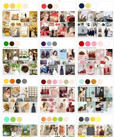 Palette Library - meant for weddings but would be great for yarn projects Wedding Color Schemes, Colour Schemes, Color Combos, Wedding Colors, Colour Palettes, Wedding Themes, Our Wedding, Dream Wedding, Wedding Decorations