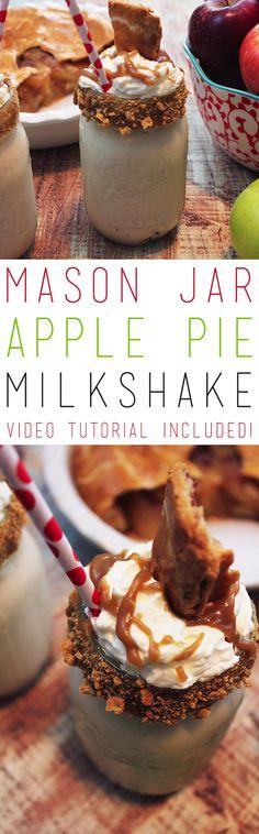 Mason Jar Apple Pie Milkshake - The Cottage Market