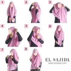 Sweet & modest style for wide square hijab Square Hijab Tutorial, Simple Hijab Tutorial, Pashmina Hijab Tutorial, Hijab Style Tutorial, Hijab Style Dress, Hijab Outfit, Muslim Fashion, Modest Fashion, How To Wear Hijab