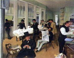 Edgar Degas, The New Orleans Cotton Exchange, 1873