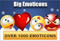 Big emoticons for Facebook