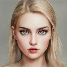 Brunette Aesthetic, Aesthetic Girl, Beautiful Fantasy Art, Dark Fantasy Art, Dark Makeup Looks, Long Red Hair, Lovely Girl Image, Cartoon Girl Drawing, White Blonde
