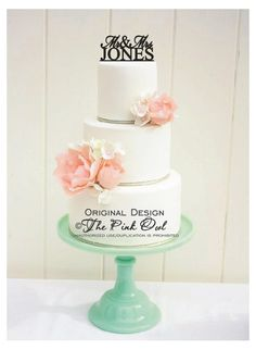 IN LOVE - Wedding Cake Topper Mr and Mrs Design With YOUR Last Name