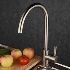 poignée simple robinet de cuisine en laiton-nickel brossé http://www.robinetshop.com/poign%C3%A9e-simple-robinet-de-cuisine-en-laitonnickel-bross%C3%A9-p-596.html
