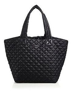MZ Wallace Metro Medium Quilted Nylon Tote