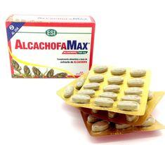 AlchachofaMax de ESI Complemento alimenticio a base de extracto de alcachofa. Los extractos vegetales integrados representan un innovador método de utilización de la planta. El extracto titulado de la planta contiene la máxima concentración de los principios vegetales, se integra con el polvo micronizado de la totalidad de la planta, para beneficiarse de todos sus principios.    INGREDIENTES Hojas de Alcachofa, celulosa microcristalina, fosfato de calcio, antiaglomerantes: sales de magnesio…