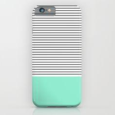Minimal+Mint+Stripes+iPhone+&+iPod+Case+by+Allyson+Johnson+-+$35.00