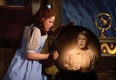 Dorothy viewing the crystal ball...