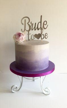 Ombré buttercream bridal shower cake