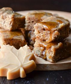 Quick Recipe:  Maple Pecan Blondies with Maple Butter Glaze    Recipes from The Kitchn