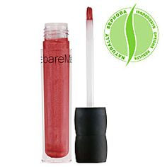 Bare Minerals 100% Natural Lipgloss in Cupcake $15. This is a nice rosy pink, sticky but longer wearing than some glosses.