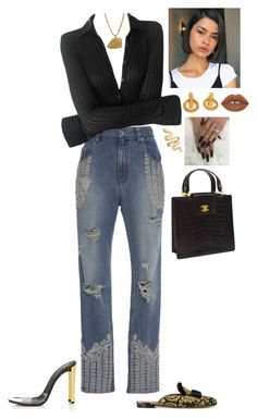 A fashion look from October 2017 featuring blue jeans, mule shoes and slip-on shoes. Browse and shop related looks. Kpop Fashion, Denim Fashion, Fashion Outfits, Tabitha Simmons, Jonathan Simkhai, Denim Style, Christmas Wishes, Art Sketchbook, Cute Casual Outfits