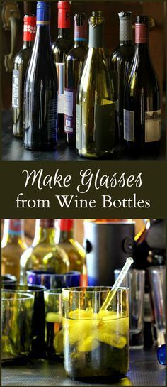 This tutorial shows you how to make drinking glasses from recycled wine bottles. The process is easier than you think.