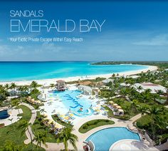 SANDALS Emerald Bay - Great Exuma, Bahamas ....All-inclusive, adults only and only 40 min by plane from South Florida - and yet you will feel a world apart.  Consider a destination wedding or honeymoon here - or just a romantic getaway with that someone special.  For more details: ASPEN CREEK TRAVEL - karen@aspencreektravel.com