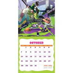 Splatoon Calendar October 2018 Calendar 2018, Layout Design, October, Templates, Wall, Party, Bricolage, Stencils, Template