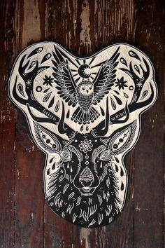 BRYN PERROTT aka deerjerk: Deer & Owl 2013 I seriously want her to design an owl for me <3