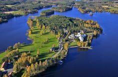 Spa Hotel Kivitippu. Meteorite crater lake Lappajärvi. South Ostrobothnia province of Western Finland. - Etelä-Pohjanmaa. Kylpylä-Hotelli Kivitippu, Lappajärvi.